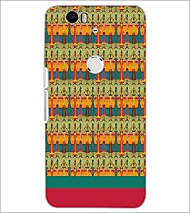 PrintDhaba Pattern D-1889 Back Case Cover for HUAWEI NEXUS 6P (Multi-Coloured)