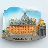lvedu recuerdos de viaje de Ciudad del Vaticano 3d imanes de nevera refrigerador magnético adhesivo