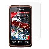 atFoliX Samsung Galaxy Xcover GT-S5690 Anti-choc Film Protecteur - 3 x FX-Shock-Antireflex amortisseur anti-éblouissement Anti-casse Protecteur d'écran
