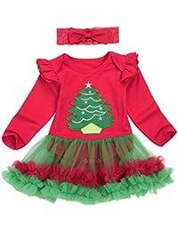 7a890a088 Bestow Tutú Mameluco Vestido Diadema Trajes De Navidad Ropa (12M