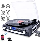 Best Tourne Disques - Digitnow! Bluetooth Vinyl Record Player Platine tournante, cassette Review