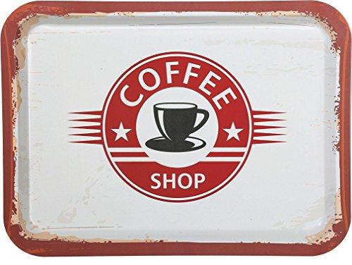Tablett Serviertablett Servierplatte Vintage viereckig (Coffee Shop)