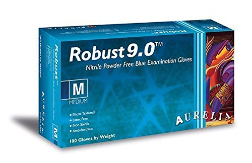 AURELIA Robust Einweghandschuhe 9Newton * Premium * stark blau Nitril Handschuhe–5x Boxen