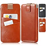 KAVAJ iPhone XS/X Tasche Leder Miami Cognac-Braun iPhone XS/X Ledertasche mit Kartenfach für iPhoneXS/X aus Echtleder Hülle Case Lederhülle