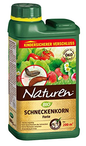 Naturen Bio Schneckenkorn Forte, Anwendungsfertiges Ködergranulat Zur Schneckenbekämpfung  Im Garten Und Gewächshaus, 600g Streudose