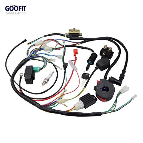 GOOFIT Cablaggio kit accensione kit per 110cc 125cc ATV Quad Go Kart Buggy