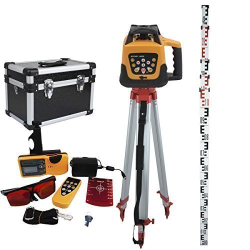 ridgeyard-adjustable-automatic-self-leveling-rotary-laser-level-red-beam-165-aluminum-tripod-5m-staf