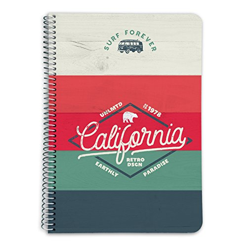 Grupo Erik CTDA50024 Quaderno appunti A5  California