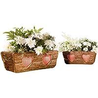 Blumentopf 2er-Pack braun