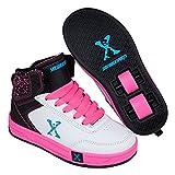 Sidewalk Sport Kinder Maedchen Hi Top Schuhe Mit Rollen Rollschuhe Heelys White/Blk/Pink 4 (37)