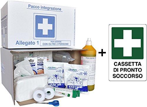 ARMADIETTO ALLEGATO 1 cassetta medica primo pronto soccorso oltre 3 dipendenti ARP89
