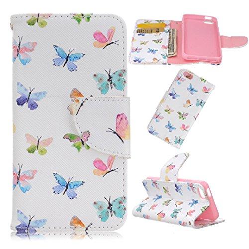 Apple iPhone SE Hülle im Bookstyle, Xf-fly® PU Leder Flip Wallet Case Cover Schutzhülle für Apple iPhone SE/5/5s Tasche Handytasche Schutz Etui Schale Handyhülle P-13
