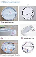 Household Surface Mounted Led Ceiling Lamps, 12W-3000K£¨Warm White) 6.69*6.69*1.5inches 960LM,High brightness Circular Led Panel Ceiling Light for Living Room,Bedroom,Kitchen,Kid's Room,office ,2 Years Warranty ¡­ by W-LITE