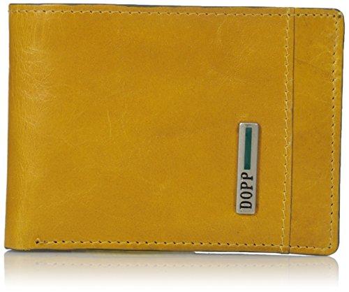 Dopp Herren Geldbörse (Dopp Herren Geldbörse Beta Rfid Blocking Leder Vordertasche Slim fold Wallet - Gold - Einheitsgröße)