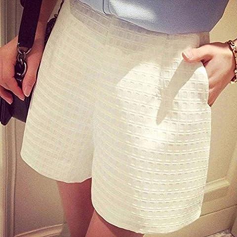 Mode Sommer Damen Casual A-Line Damen mit hoher Taille und weitem Bein Strand kurze Hosen, weiße, 3 XL YYDZJ