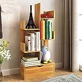 TQ Bücherregal Kreativer Baum-Förmiger Boden Kleine Bücherregale Einfach Modernes Regal-97 * 48 * 20Cm,Brown
