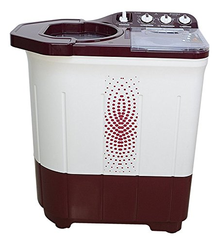 Sansui WMSS60AS-CMA Semi-Automatic Top-Loading Washing Machine (6kg, Maroon)