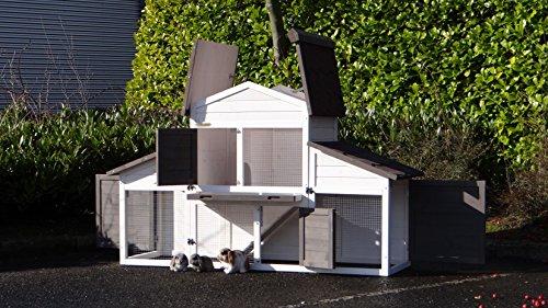 Animalhouseshop.de Kaninchenstall Annemieke mit Auslauf 175x70x110cm - 7