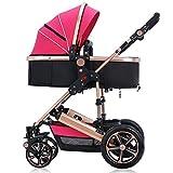 Il carrello per bambini può sedersi e tenere il carrello per neonati ( Colore : Rose red ) immagine