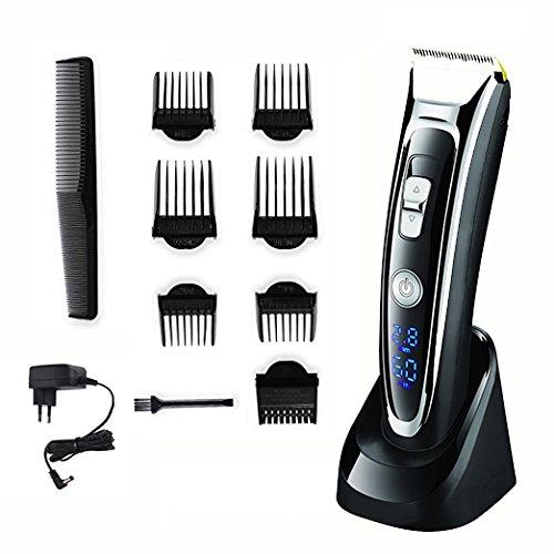Gleading Surker Haarschneider Aufladbarer Haarschneider Haar Trimmer Kit Kabellos Bartschneider mit LED-Display für Männer Kinder Erwachsene (Remington-haar-trimmer-klingen)