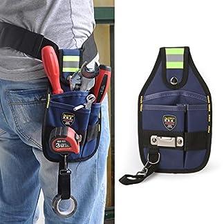 jiamins de 3Pocket Profesional Electricista Bolsa de herramientas banda Cinturón Hebilla trabajo Funda