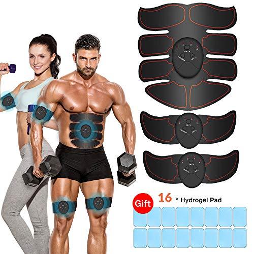iThrough EMS Trainingsgerät, EMS Muskelstimulator,Professional Bauch Muskel Trainer Elektrisch für Herren Damen,Abnehmen und Muskeln aufbauen,Tragbarer Muskel Trainer
