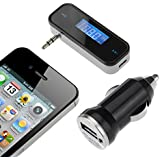 [With Car Charger] VicTop 3.5mm In-car FM Transmitter Radio Adapter Car Kit with Stereo for iPod iPad iPhone 6S SE 6 5S 5C 5 5G 4S Samsung Galaxsy S7 Edge S6 Note HTC, Tablet PC, MP3/MP4 Players Other Smart Phones & Audio Devices