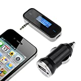 [With Car Charger] Victsing LCD Auto FM Transmitter KFZ Radioempfänger