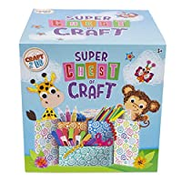 Super Chest Of Craft - Craft Kits for Kids - All your Craft Supplies in one lockable craft chest - Includes Pipe Cleaners, Googly Eyes, Glitter and much more.