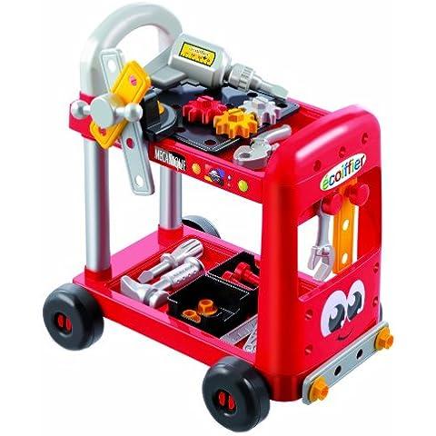 Ecoiffier 2354 - Taller mecánico de juguete con ruedas y accesorios