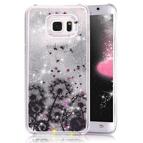 S6Edge Fall, S6Edge Neu Cool Cute Case, Crazy Panda 3D Hard Shell Liquid Glitter Sparkle Stars Harte Hülle Schutzhülle Für Samsung Galaxy S6Edge Bunten Malerei, 7-3 Panda-design Hard Case