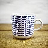 Kaffeebecher - Handmade von Ahoi Marie - Motiv Moin - Maritime Porzellan-Tasse original aus dem Norden
