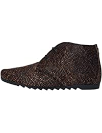 Maruti Women's Ginny Women's Brown-Black Chukka Boots Leather