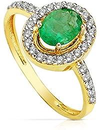 1ab7caabf1ed Amazon.es  anillos mujer oro 18k - Esmeralda  Joyería