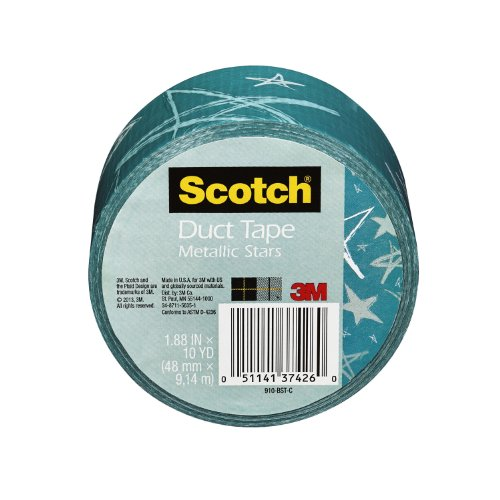 SCOTCH DUCT TAPE  METALLIC STARS  1 88-INCH BY 10-YARD BY SCOTCH(R)