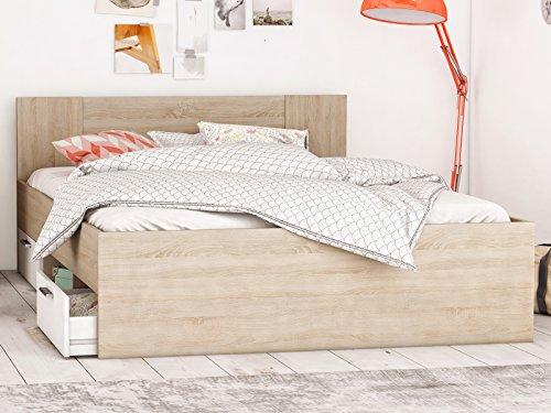 """Bett Kompaktbett Bettrahmen Doppelbett Bettgestell Schlafzimmermöbel \""""Dallas I\"""" 180x200 cm"""
