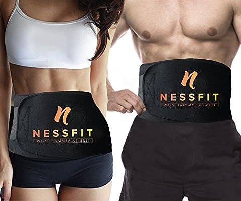 nessfit® Ceinture gainante en néoprène pour homme et femme ceinture pour perte de poids–Entièrement réglable Sauna Minceur AB–offre un meilleur soutien lombaire pour le bas du dos et