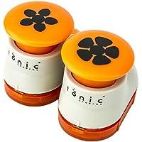 Tonic Studios 882E Petal Pairs Box Set 3 Fustelle Doppie, bianco / arancione, 2 pz - Punch Studio Carte