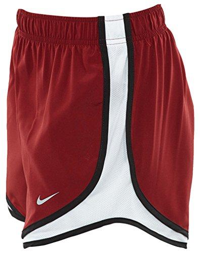 Nike Tempo W nK Dry Pantalon court, femme rojo (team red / white / black / wolf grey)