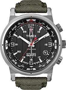 Reloj Timex T2N726AU de cuarzo para hombre con correa de nylon, color gris de Timex Intelligent Quartz