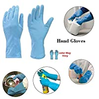 Rubber hand gloves reusable washing cleaning kitchen garden (2 pair_ivory) (colour may vary) 2 pair medium size reusable natural rubber hand gloves, 100% waterproof protects against costics, detergents, acids and other household chemicals made of nat...