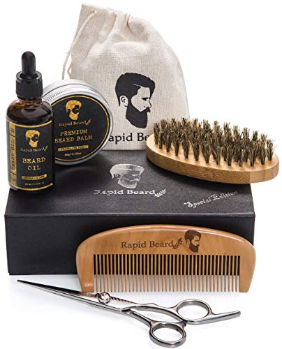 Kit Barba Cuidado Hombre - Cepillo Barba De Cerdas