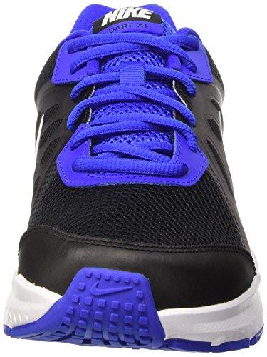 Nike Dart 11, sneaker homme Gris / Azul / Blanco (Black/White-Racer Blue-White)