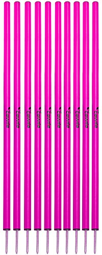 Cawila Slalomstangen, 10er Set, verschiedene Farben (pink)