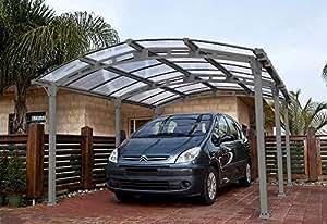 Carport ALMICAR en métal 14,5 m², 362 x 502 x 242 cm -PEGANE-