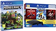 PS4 1TB Slim Bundled with Spider-Man, GTaSport, Ratchet & Clank And PSN 3Month&PS4 Minecraft Bedrock E