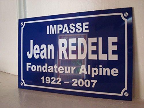Renault alpine Jean REDELE plaque de rue création collector edition limitée cadeau original