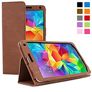 Snugg Galaxy Tab S 8.4 Case - Smart Cover with Flip Stand & Lifetime Guarantee (Brown Leather) for Samsung Galaxy Tab S 8.4
