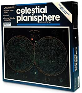 "Celestial Planisphere Glow in The Dark Jigsaw Puzzle 1000 pieces 19x27"" Tomas J. Filsinger"