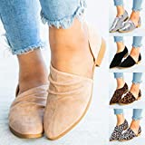 Lailailaily?Leopard Solid?Pleated Ankle?Round?Toe?Sandals?Women's?Ladies?Single?Casual?Shoes